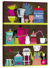 Canvas print  Shelf of a coffee lover - Elisandra Sevenstar