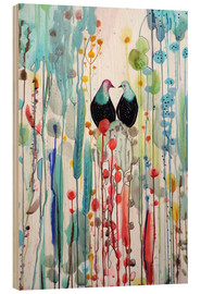 Wood print  The beautiful vertical story - Sylvie Demers
