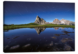 Canvas print  Giau Pass La Gusela at night Dolomiti Italy - Roberto Sysa Moiola
