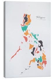 Canvas print  Philippines map modern abstract with round shapes - Ingo Menhard
