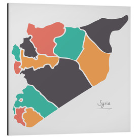 Aluminium print  Syria map modern abstract with round shapes - Ingo Menhard