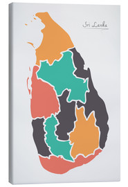 Canvas  Sri Lanka map modern abstract with round shapes - Ingo Menhard