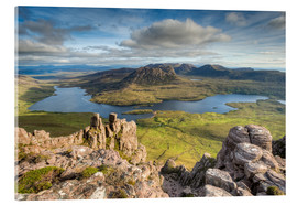 Acrylic glass  View from Stac Pollaidh in Scotland - Michael Valjak