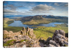 Canvas  View from Stac Pollaidh in Scotland - Michael Valjak