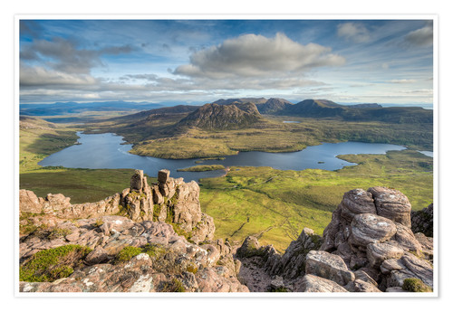 Premium poster View from Stac Pollaidh in Scotland