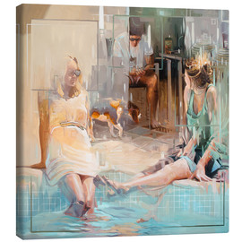 Canvas print  At the pool - Johnny Morant