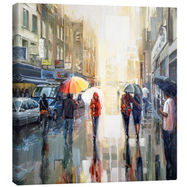 Canvas print  Brick lane in the rain - Johnny Morant