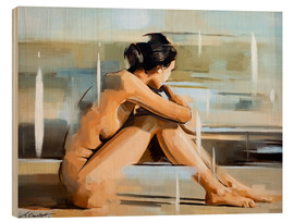 Wood print  Thinking - Johnny Morant