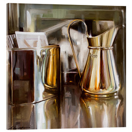 Acrylic print  In the cafe - Johnny Morant
