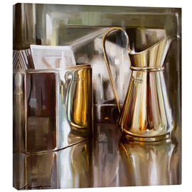 Canvas print  In the cafe - Johnny Morant