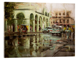 Acrylic print  Havana in the rain - Johnny Morant