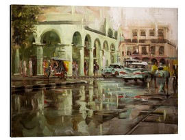 Aluminium print  Havana in the rain - Johnny Morant