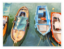 Premium poster Fishing boats