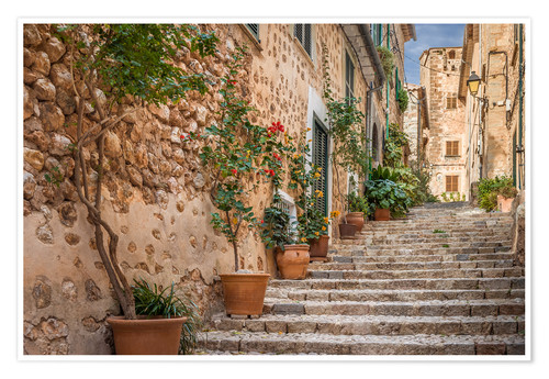 Premium poster Fornalutx - Most beautiful village in Majorca