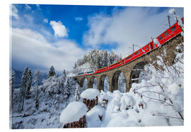 Acrylic print  Bernina Express Train, Switzerland - Roberto Sysa Moiola