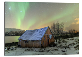 Aluminium print  Aurora Borealis on typical Rorbu, Svensby, Norway - Roberto Sysa Moiola