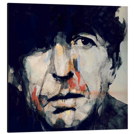 Alu-Dibond  Leonard Cohen   Hey That's No Way To Say Goodbye - Paul Paul Lovering Arts