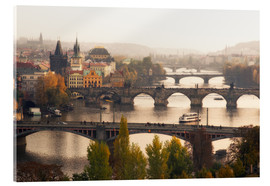 Acrylic print  The bridges of Prague - Dennis Fischer