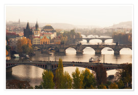 Premium poster The bridges of Prague