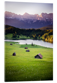 Acrylic print  Sunrise in the Alps - Dennis Fischer