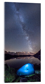 Acrylic print  Panoramic of Milky Way on Mont Blanc, France - Roberto Sysa Moiola