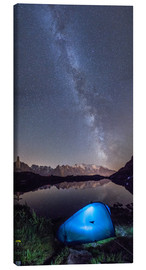 Canvas print  Panoramic of Milky Way on Mont Blanc, France - Roberto Sysa Moiola