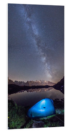 Foam board print  Panoramic of Milky Way on Mont Blanc, France - Roberto Sysa Moiola
