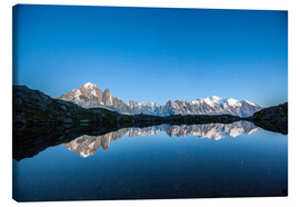 Canvas print  Mont Blanc reflected in Lacs des Chéserys, France - Roberto Sysa Moiola