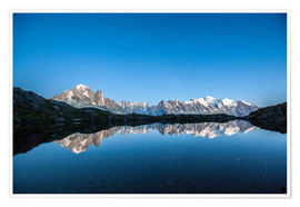 Premium poster Mont Blanc reflected in Lacs des Chéserys, France