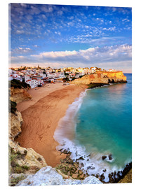 Acrylic print  Panoramic of Carvoeiro at sunset, Algarve, Portugal - Roberto Sysa Moiola