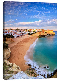 Canvas  Panoramic of Carvoeiro at sunset, Algarve, Portugal - Roberto Sysa Moiola