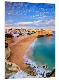 Foam board print  Panoramic of Carvoeiro at sunset, Algarve, Portugal - Roberto Sysa Moiola