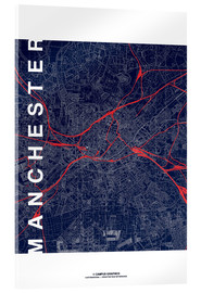 Acrylic print  Manchester Map Midnight Map - campus graphics
