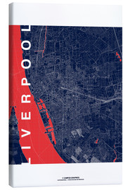 Canvas print  Liverpool Map Midnight City - campus graphics