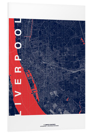 Foam board print  Liverpool Map Midnight City - campus graphics