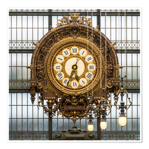 Premium poster Big clock at the Musee d'Orsay in Paris, France
