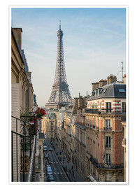 Premium poster  View over the rooftops of Paris, France - Jan Christopher Becke