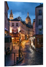 Forex  Street in Montmartre with Basilica of Sacre Coeur, Paris, France - Jan Christopher Becke