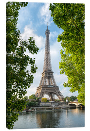 Canvas print  Eiffel Tower on the Seine River, Paris, France - Jan Christopher Becke