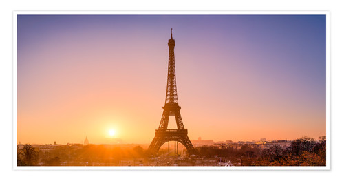Premium poster City view with Eiffel Tower, Paris, France