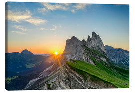 Canvas  Sunrise on Seceda with Geisler group - Dieter Meyrl
