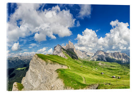Acrylic print  Alps panorama on Seceda with Mount Geisler - Dieter Meyrl