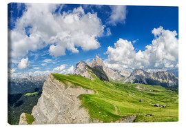 Canvas  Alps panorama on Seceda with Mount Geisler - Dieter Meyrl