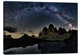 Canvas  Milky way over Tre cime -  Dolomites - Dieter Meyrl