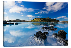 Canvas print  Blue Lagoon in Iceland - Dieter Meyrl