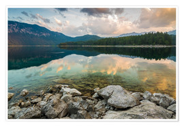 Premium poster Eibsee at dawn
