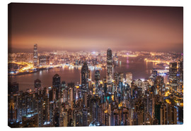 Canvas print  Hong Kong lights in the morning - Dennis Fischer