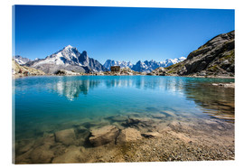 Acrylic glass  Mont Blanc reflected in Lacs des Chéserys, Chamonix, France - Roberto Sysa Moiola