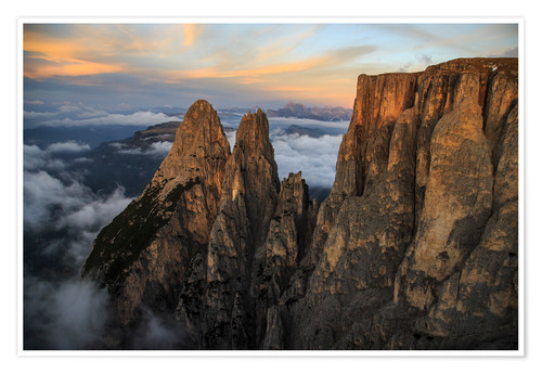 Premium poster Aerial view of Punta Santner, Sciliar, South Tyrol, Italy