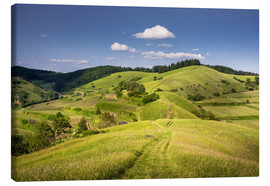 Canvas print  Hills and clouds in summer, Kaiserstuhl, Germany - Dennis Fischer